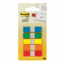 MMM6835CF - Flags Sm Portable .47X1.7 100Flg 5Clr Primary Colors in Post It & Self-stick Notes
