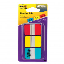 MMM686RYBT - Durable Index Tabs 1X1.5 3/Pk in Post It & Self-stick Notes