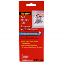 MMM7220 - Wall Mounting Tabs-48 Pkg 1/2 X 3/4 in Adhesives