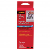 MMM7221 - Wall Mounting Tabs-144 Pkg 1/2X3/4 in Adhesives