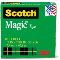 MMM810121296 - Tape Scotch Magic 1/2 X 36 Yds in Tape & Tape Dispensers