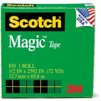 MMM810121296 - Tape Scotch Magic 1/2 X 36 Yds in Tape & Tape Dispensers