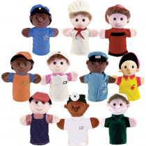 MTB469 - Community Helper Puppets Set Of 10 in Puppets & Puppet Theaters
