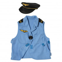 Pilot Toddler Dress-Up, Vest & Hat - MTC613 | Marvel Education Company | Role Play