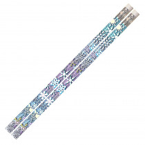 MUS1063D - Snowflake Glitters 12Pk Motivational Fun Pencils in Pencils & Accessories