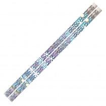 MUS1063D - Snowflake Glitters 12Pk Motivational Fun Pencils in Pencils & Accessories