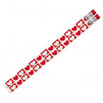 MUS1153D - Hearts O Glitter Pencil 12Pk in Pencils & Accessories