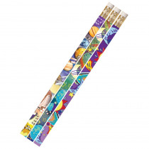 MUS1495D - Galaxy Galore 12Pk Motivational Fun Pencils in Pencils & Accessories
