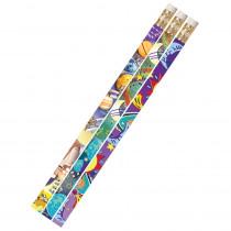 MUS1495D - Galaxy Galore 12Pk Motivational Fun Pencils in Pencils & Accessories