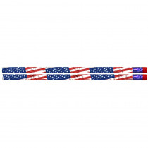 MUS1615D - Flags & Fireworks Pencil Pack Of 12 in Pencils & Accessories