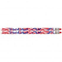 MUS2223D - America The Beautiful 12Pk Motivational Fun Pencils in Pencils & Accessories