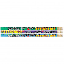 MUS2329D - Perfect Attendance Pencil 12Pk in Pencils & Accessories