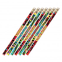 MUS2420D - Character Matters 12Pk Motivational Fun Pencils in Pencils & Accessories