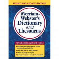 MW-7326 - Merriam Websters Dictionary & Thesaurus Trade Paperback Size in Reference Books