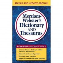 MW-8637 - Merriam Websters Dictionary & Thesaurus Paperback in Reference Books