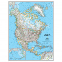 NGMRE00620148 - North America Wall Map 24 X 30 in Maps & Map Skills