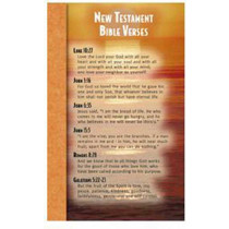 NST2107 - New Testament Bible Verses Memory Cards in Inspirational