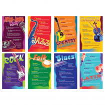 NST3059 - Music Genres Bulletin Board Set in Miscellaneous