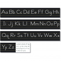 NST9031 - Tradit Manuscript Alphabt Line Blck in Alphabet Lines