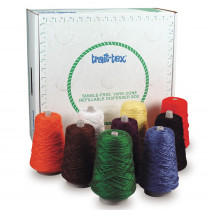 4-Ply Double Weight Rug Yarn Dispenser, Bright Colors, 8 oz., 9 Cones - PAC0000240 | Dixon Ticonderoga Co - Pacon | Yarn