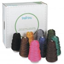4-Ply Jumbo Roving Yarn Dispenser, Intermediate Colors, 8 oz., 9 Cones - PAC0000350 | Dixon Ticonderoga Co - Pacon | Yarn