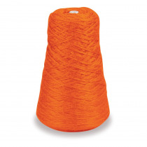 4-Ply Double Weight Rug Yarn Refill Cone, Orange, 8 oz., 315 Yards - PAC0002501 | Dixon Ticonderoga Co - Pacon | Yarn