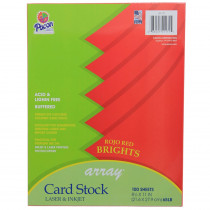 PAC101171 - Array Card Stock Brights Rojo Red in Card Stock