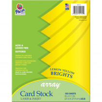 PAC101172 - Array Card Stock Brights Lemon Yellow in Card Stock