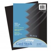 PAC101187 - Array Card Stock Black 100 Sheets in Card Stock