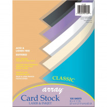 PAC101189 - Array Card Stock Classic Colors 100 Count 8.5 X 11 in Card Stock