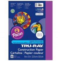 PAC103000 - Tru Ray 9 X 12 Magenta 50 Sht Construction Paper in Construction Paper