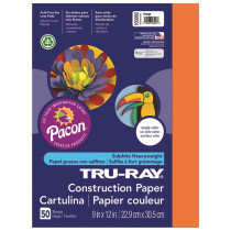 PAC103002 - Tru Ray 9 X 12 Orange 50 Sht Construction Paper in Construction Paper