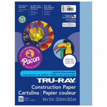 PAC103016 - Tru Ray 9 X 12 Sky Blue 50 Sht Construction Paper in Construction Paper