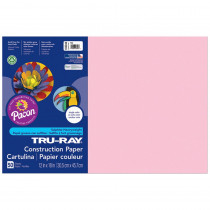 PAC103044 - Tru Ray 12 X 18 Pink 50 Sht Construction Paper in Construction Paper
