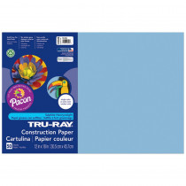 PAC103048 - Tru Ray 12 X 18 Sky Blue 50 Sht Construction Paper in Construction Paper