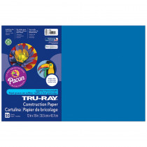 PAC103054 - Tru Ray 12 X 18 Blue 50 Sht Construction Paper in Construction Paper