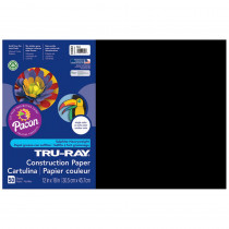 PAC103061 - Tru Ray 12 X 18 Black 50 Sht Construction Paper in Construction Paper