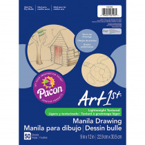 PAC103193 - Cream Manila Drawing Paper 9 X 12 50Shts in Drawing Paper