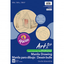 PAC103194 - Cream Manila Drawing Paper 12 X 18 50Shts in Drawing Paper