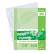 PAC3204 - Ecology Recycled Filler Paper Pack College Ruled in Loose Leaf Paper