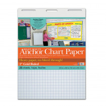 PAC3373 - Heavy Duty Anchor 24X32 1In Grid Ruled Chart Paper in Chart Tablets