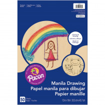 PAC4139 - Drawing 12X18 Manila Juv  50Ct in Sketch Pads
