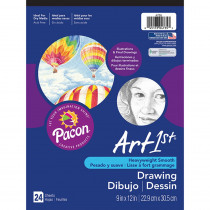 PAC4735 - Art1st Drawing Pad 9X12 24 Sht Wht in Drawing Paper
