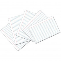 PAC5136 - White 4X6 Ruled Index Cards 100Pk in Index Cards