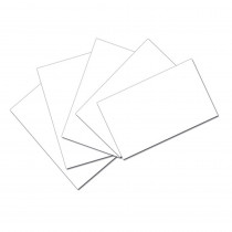 PAC5141 - White 3X5 Unruled Index Cards 100Pk in Index Cards