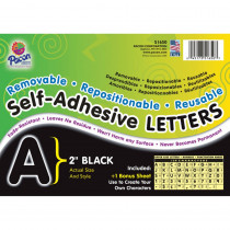 PAC51650 - Self Adhesive Letter 2In Black in Letters