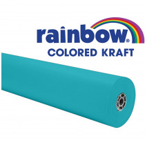 PAC63160 - Aqua Rainbow Kraft Roll 36Inx1000ft in Bulletin Board & Kraft Rolls