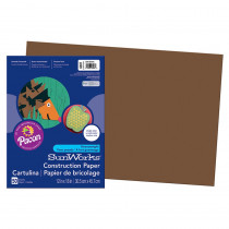 PAC6807 - Sunworks Construc Ppr Dk Brn 12X18 in Construction Paper