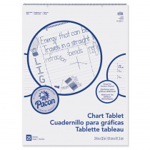 PAC74710 - Chart Tablet 24X32 1-1/2 In Ruled 25 Sht in Chart Tablets