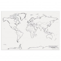 PAC78770 - Giant World Map 48In X 72In in Maps & Map Skills